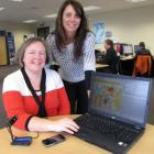 Ibis Technology operations manager Sarah Bogle (left) and customer relations manager Alison Raye...