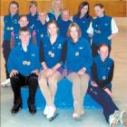 Ice Sports Southland medal winners from the New Zealand Figure Skating Championship are (back row...