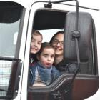 In an Isuzu truck at Special Rigs for Special Kids in Dunedin yesterday were (from left) brothers...