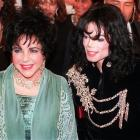 In this 1998 AP file photo, actress Elizabeth Taylor arrives with pop singer Michael Jackson at...