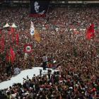 Indonesian presidential candidate Joko ''Jokowi'' Widodo  delivers a speech in Jakarta last...