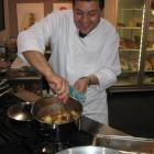 Industry initiative: A chef shows different ways of preparing La Viandé (alpaca meat) at the...