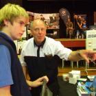 Industry training adviser Ian Clarke (right), from the New Zealand Motor Industry Training...