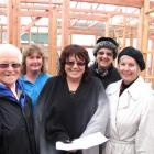 Inspecting the site of their new premises are (from left) Jill Tosswill,  Family Care, Liz Duggan...