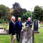 Inspecting war graves at Warringtons St Barnabas Church are (from left)  Commonwealth War Graves...