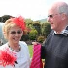 Invercargill couple Christine and Albert Dore show off their Melbourne Cup glad rags. PHOTO:...