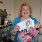 Invercargill craftswoman Ann-Marie Searle with the card sent on behalf of the Duke and Duchess of...