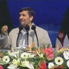 Iranian President Mahmoud Ahmadinejad speaks at a rally in Tehran marking the 31st anniversary of...