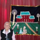 Iris Edwards, of Kimberley Rest Home in Palmerston, with a quilt she made in just over nine weeks...