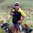 Jarrad Blackler out on the hills with his dogs.  Photo supplied.