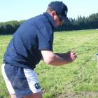 Jarred Clode, of the Pendarves club, competes in the fencing challenge during the Mid Canterbury...