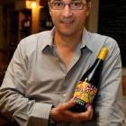 Jean-Christophe Poizat from Mason Vauron with a bottle of wine from the world famous Beaujolais...