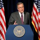 Jeb Bush speaks while promoting his book 'Immigration Wars: Forging an American Solution' at the...