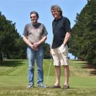 Jed Adamson (left) and Peter Fenton at St Clair Golf Club. Photo by Gregor Richardson.