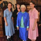 Jenny Alloo (82), her daughter Jenny Chamberlain  and granddaughters Annabelle Alloo (15), left,...