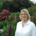 Jenny Hewson at home in her Kaka Point garden.