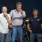 Jeremy Clarkson (centre) is flanked by Greg Murphy (left) and Richard Hammond at the Top Gear...