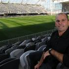 Jeremy Curragh at the Forsyth Barr Stadium yesterday. Photo by Craig Baxter.