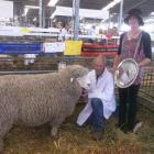 Jim and Ramona Sidey say their champion Corriedale ram is the result of genetics developed by...