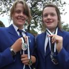 Jo (left) and Caitlin Kearney with the medals they...