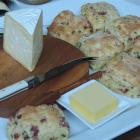 Joan Bishop's chorizo and chive scones. Photos by Charmian Smith.