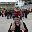John and Archie (3) Hyslop said they liked what they saw during an  open day at Dunedin's Forsyth...