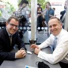John Banks (left) and John Key. Photo by The New Zealand Herald.