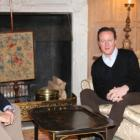 John Key and David Cameron at Mr Cameron's country retreat of Chequers. Photo / NZ Herald