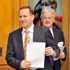 John Key (left) with United Future leader Peter Dunne. Photo by NZPA.