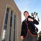 John McGlashan College Pipe Band pipe major Liam Kernaghan is the first piper in the school's...