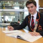 John McGlashan College pupil Ed Davies (17) brushes up on  biology  before his Cambridge...