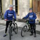 John McGlashan College pupil Nick Woods (right) with father Denis, en route from Centre Island...