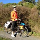 John Smithies (72) with the 1940s bike on which he will be riding the length of New Zealand....