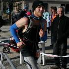 Jonny Martin, of Dunedin, finishes the Mt Difficulty Ascent solo half marathon in 3hr 59min....