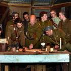 Journey's End stars (from left front) Oscar Macdonald, Matthew Scadden, Dale Neill, Keith Scott...