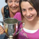 Joy Macaulay and daughter Olivia (12) have both won the Mulheron Cup for best all round...