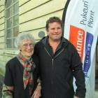 Joyce McDougall with grandson Nathan at Friday's Pukeuri meat processing plant centennial reunion...