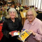 Judge Fiona Farrell and published-poet winner Lynne Hill at the Robert Burns Poetry Competition...