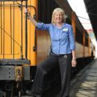 Judy Trevathan (54) has begun work as a Taieri Gorge Railway guard. Photo by Peter McIntosh.