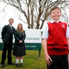 Kaikorai Valley College pupils (from left) Sean Cook (17), Jessica Wilson (17) and Jacob Cone (11...