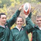 Kaikorai Valley College pupils (from left) Thomas Johnson, Nicole McCutcheon and Scott Turner,...