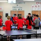 Kaikorai Valley College pupils get some table tennis coaching as part of the Sport in Education...