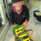 Kakanui grower Jim O'Gorman shows off some healthy food, after being selected to supply...