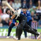 Kane Williamson brought up a century off 88 balls. Photo Reuters