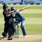 Kane Williamson of New Zealand bats during the One Day International match between New Zealand...