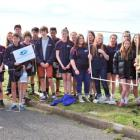 Kavanagh College pupils during the Our Seas Our Future ''Adopt-a-Coast'' project at St Kilda...