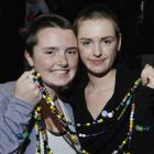 Kavanagh College pupils Olivia Sutherland (16), left, and Emily Protheroe (17) with their freshly...