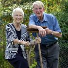 Keen gardeners June and Andy Gold celebrate their diamond wedding anniversary in Dunedin...