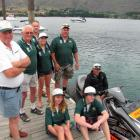 Keeping Lakes Wanaka and Hawea safe this summer are (from left) harbourmaster Marty Black,...