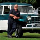 Ken Rapley with his restored 1952 Willys Jeep station wagon in Mosgiel yesterday. Photos by Craig...